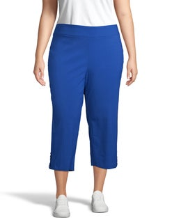 Super Stretch Pull-On Criss-Cross Detail Crop Pants