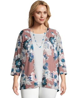 Floral Two-Fer with Necklace