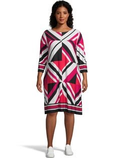 3/4 Sleeve Prism Dress