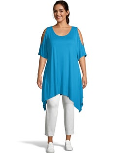 Cold Shoulder Sharkbite Hem Tunic