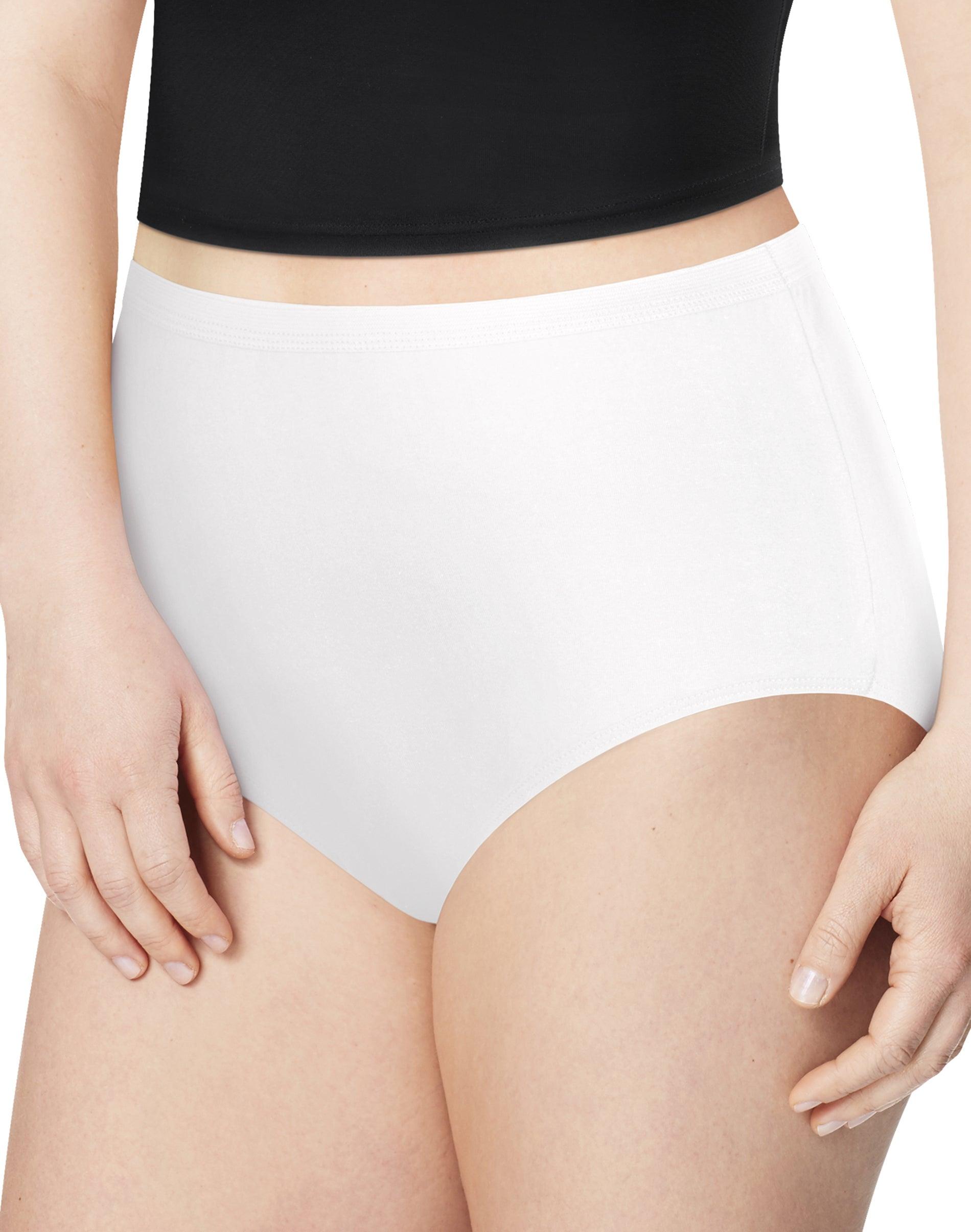 Details about  /Ladies Five Pack White 100/%Cotton Full Briefs  Size Medium