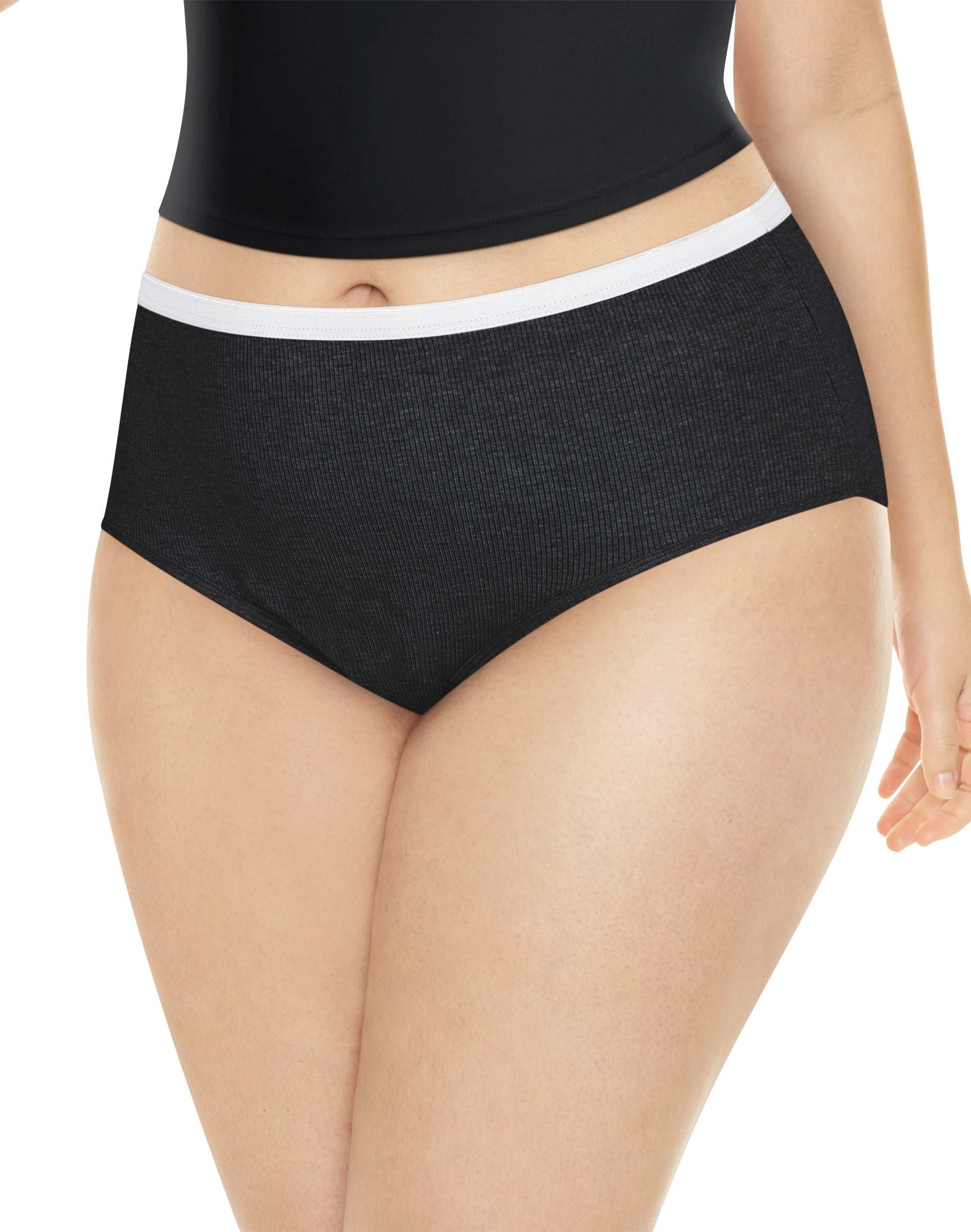 Just My Size Women/'s Plus 5-Pack Cotton High Brief All Sizes 9-14