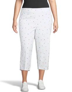 Super Stretch Print Crop Pants