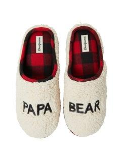 Dearfoams Papa Bear Sherpa Clog Slipper