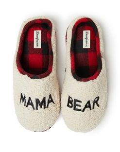 Dearfoams Mama Bear Sherpa Clog Slipper