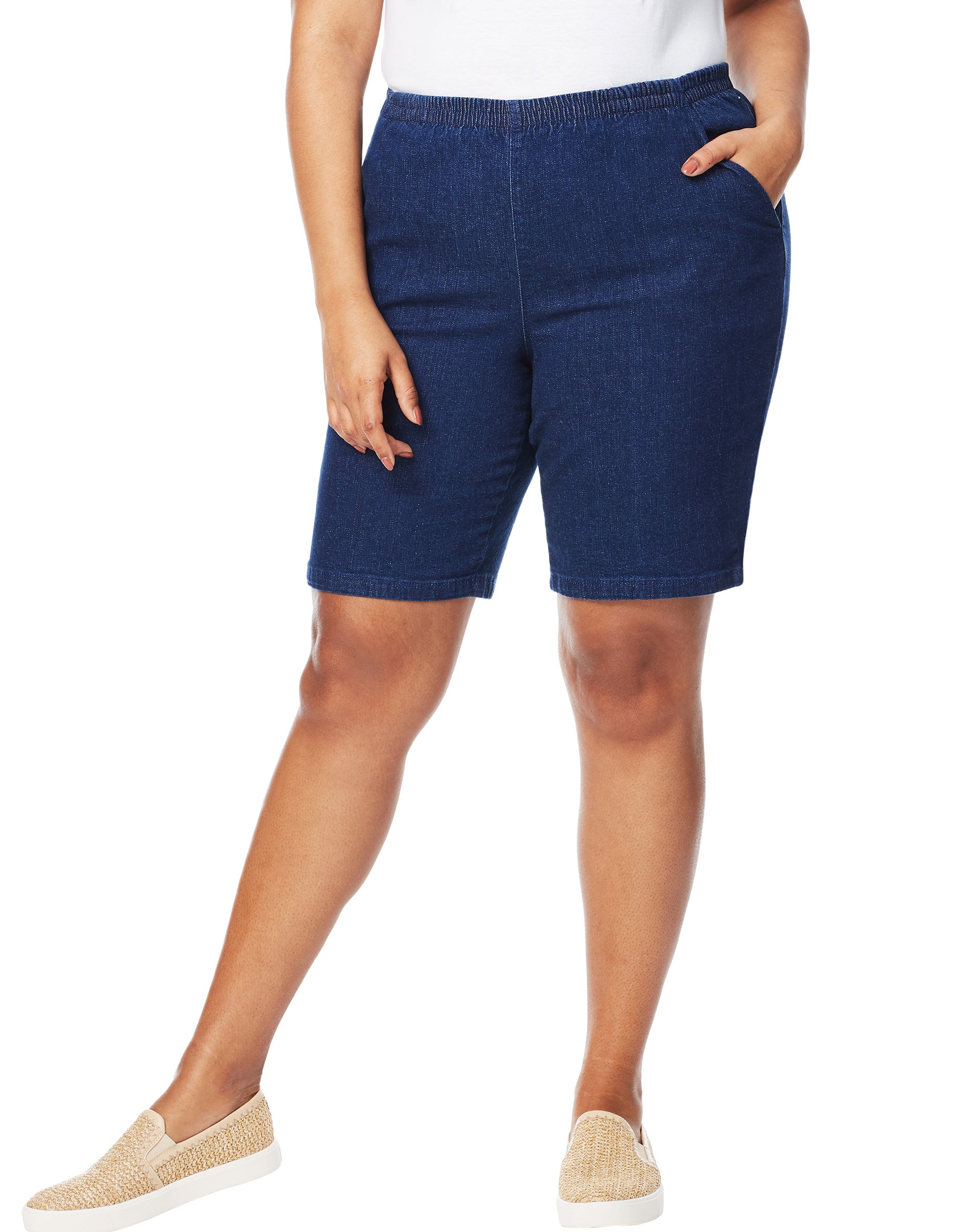 Just My Size Cotton Jersey Pull-On Women/'s Shorts