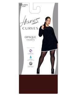 Hanes Curves Control Top Opaque Tights