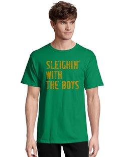 Hanes Men's Sleighin' with the Boys Short-Sleeve Tee
