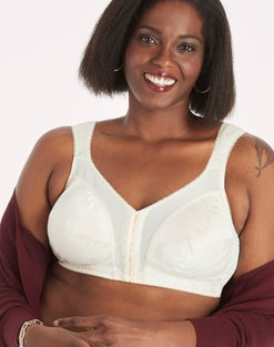 Playtex 18 Hour 4695 Front-Close Wirefree Bra with Flex Back