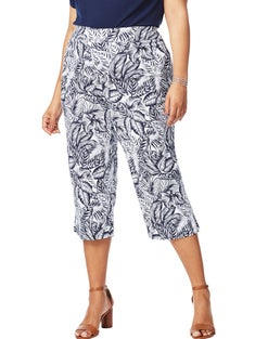 Super Stretch Print Crop Pants