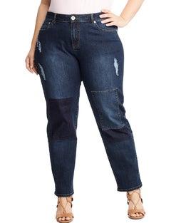 JMS Patchwork Boyfriend Jeans