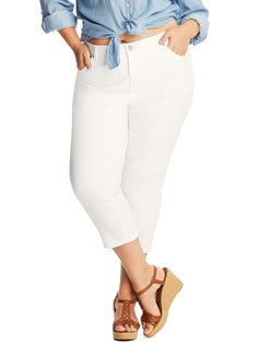 JMS Cropped White Jeans
