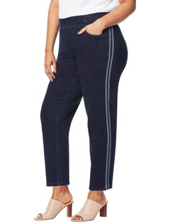 JMS 2-Pocket Pull On Jeans with Side Stripes