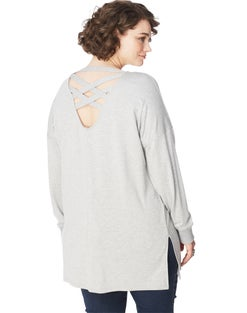 JMS Criss Cross French Terry Tunic