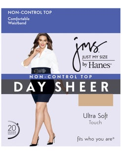 JMS Regular, Sheer Toe Pantyhose 5X-6X 4-Pack