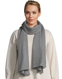 Pleated Oblong Scarf