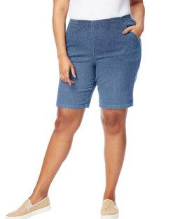 JMS Stretch Denim 2-Pocket Pull-On Shorts