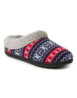 Dearfoams Women's Sweater Knit Clog Slipper with Memory Foam