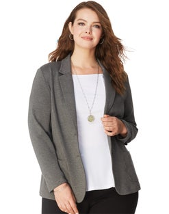 JMS Ponte 2-Button Blazer