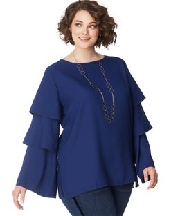 JMS Tiered Sleeve Top