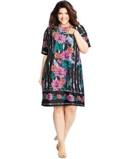 Scoopneck Floral Dress