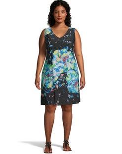 Floral V-Neck Tank Dress