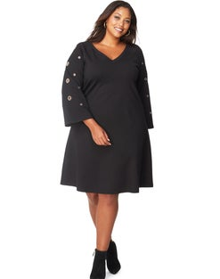JMS Grommet Sleeve  Dress