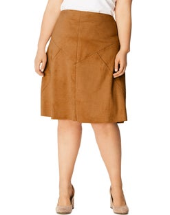 JMS Faux Suede A-Line Skirt