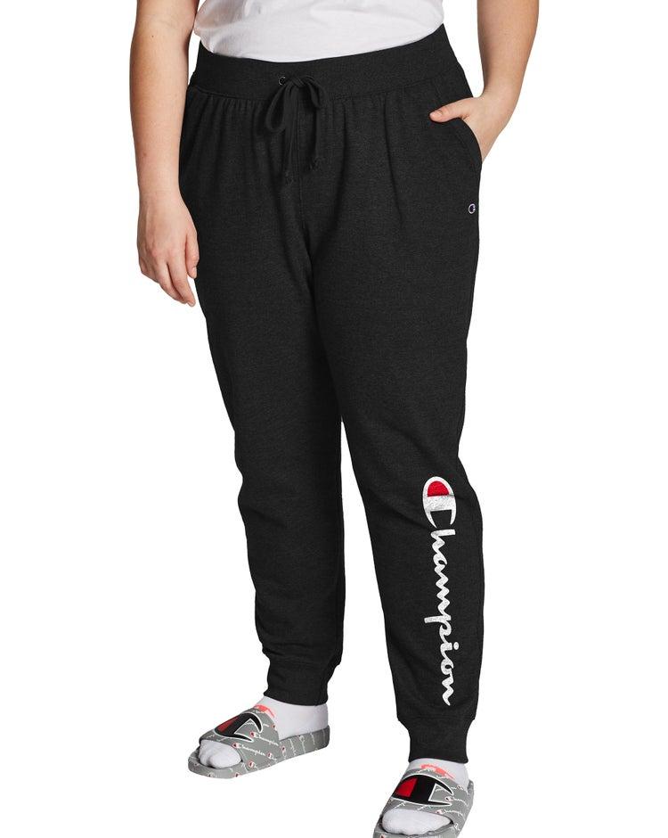 Champion Women's Plus Powerblend® Fleece Joggers, Vertical Logo
