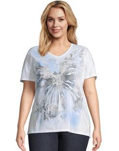 JMS True Blue Butterfly Short Sleeve Graphic Tee