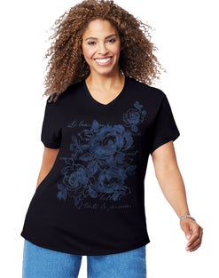 JMS Floral Impression Short Sleeve Graphic Tee