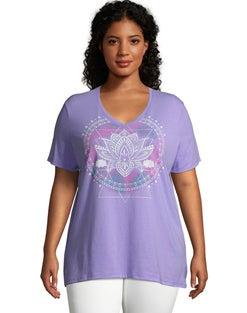 JMS Lotus Mandala Short Sleeve Graphic Tee
