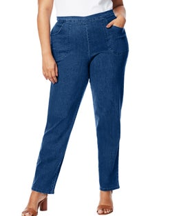 JMS 2-Pocket Flat-Front Jeans, Average Length