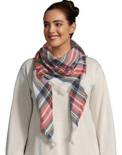 Multi Color Plaid Blanket Scarf