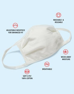 Hanes Wicking Cotton Masks 10-Pack