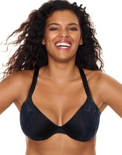 Just My Size Embellished Plunge Underwire Bra