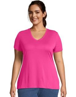 JMS Cool DRI® Short-Sleeve Women's V-Neck Tee