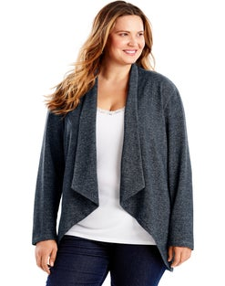 JMS Women's French Terry Lightweight Flyaway Cardigan