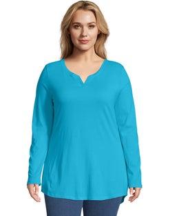 JMS Cotton/Modal Split V-Neck Women's Tunic