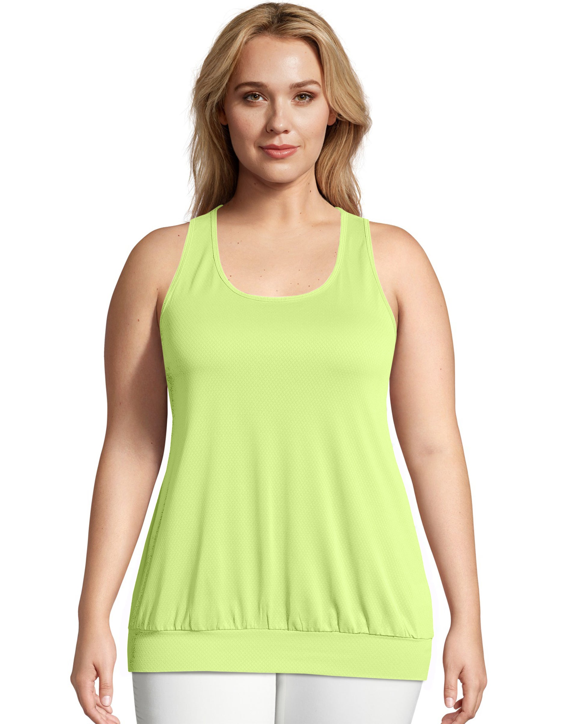 2 Just My Size Active Mesh Banded Tank Tops OJ367