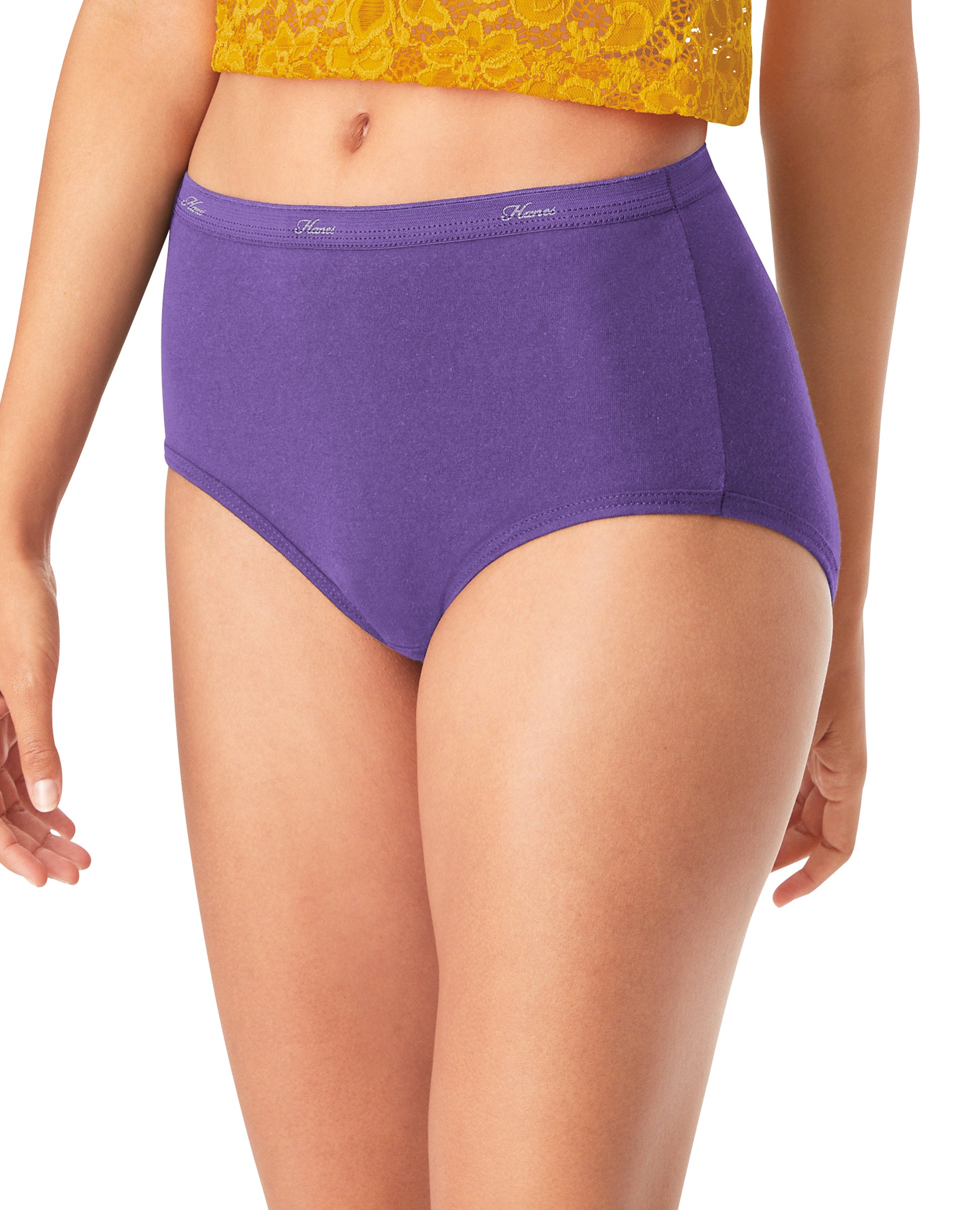 Hanes Women/'s 6 Pack Ultra Light Low Rise Briefs Sizes 6,7,9,10 NEW