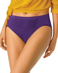 Hanes Cool Comfort™ Women's Plus Cotton Hi-Cut Panties 5-PacK