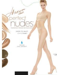 Hanes Perfect Nudes™ Sheer to Waist Run Resistant Light Tummy Control Hosiery