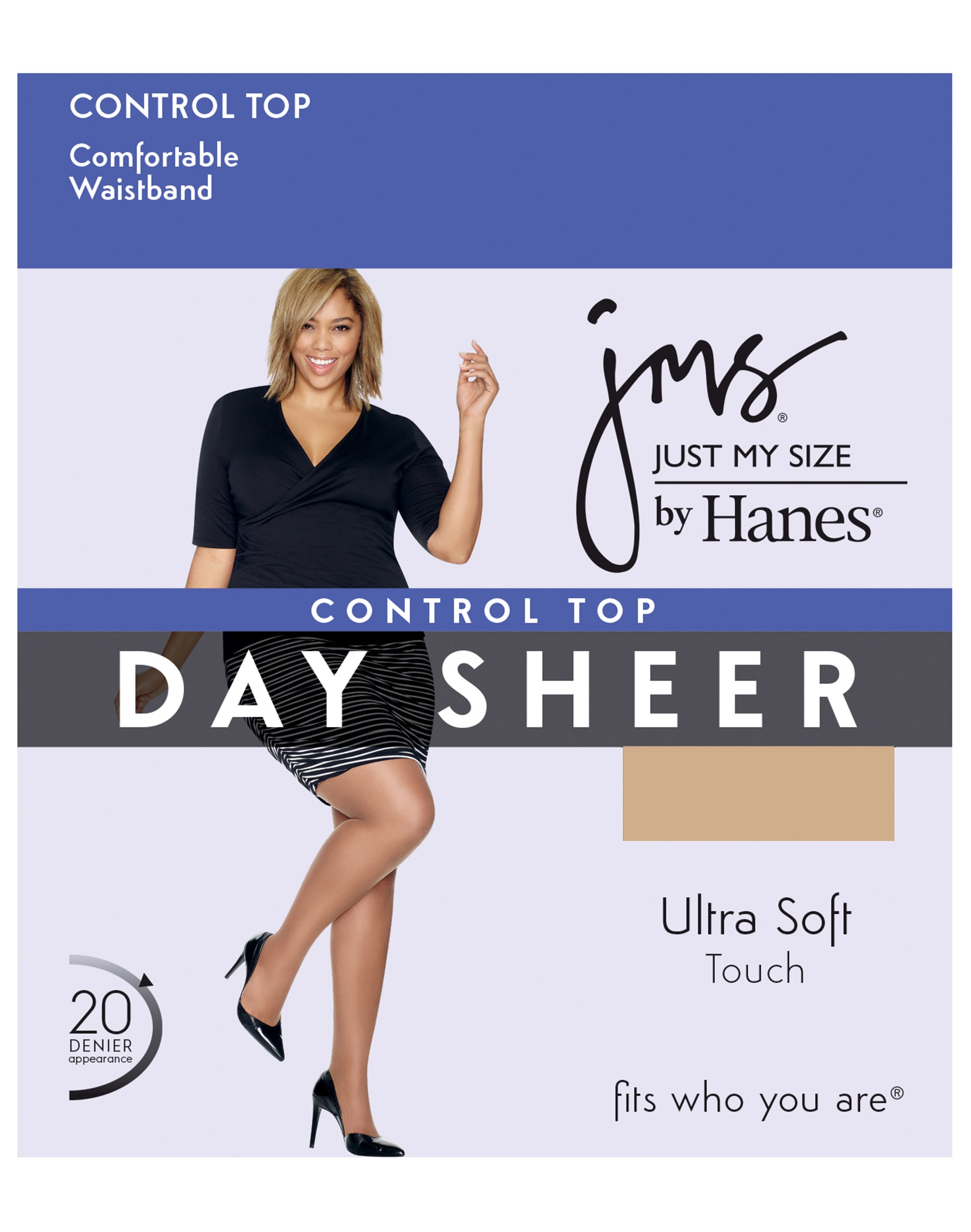 Just My Size Hanes JMS Plus Blackout Tights Stocking Lace Thigh High 1X 2X 3X 4X