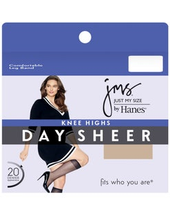 JMS Knee Highs, Sheer Toe 12-Pack