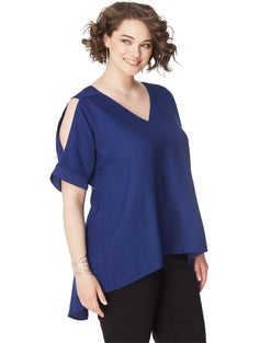 JMS Short Sleeve Cold Shoulder Dolman Top